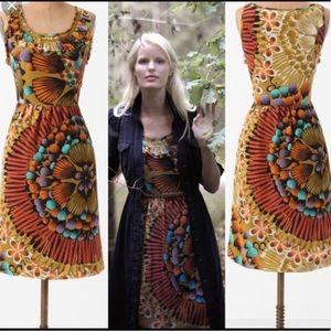 Anthropologie edmé & esyllte silk dress - size 2